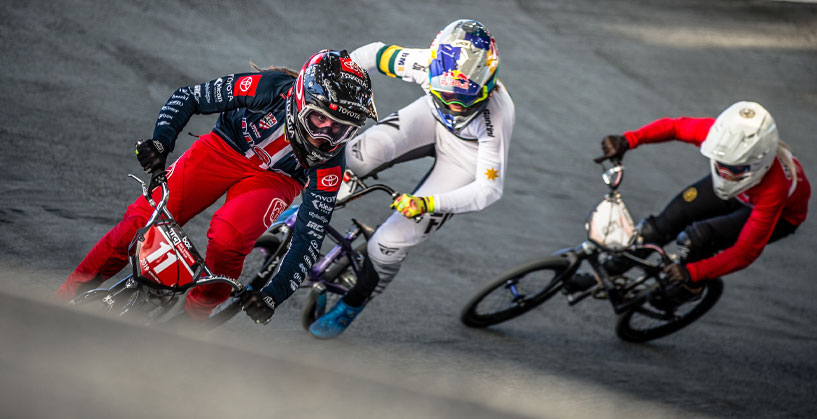Alise Willoughby at the 2019 Staint-Quentin en Yvelines BMX Supercross
