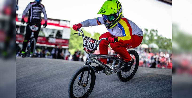 Stefany Hernandez at the  2019 Saint-Quentin en Yvelines BMX Supercross