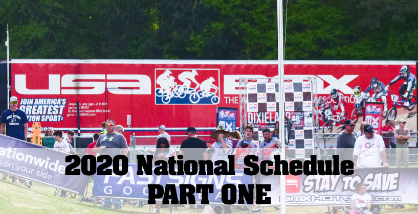 2020 USA BMX National Schedule