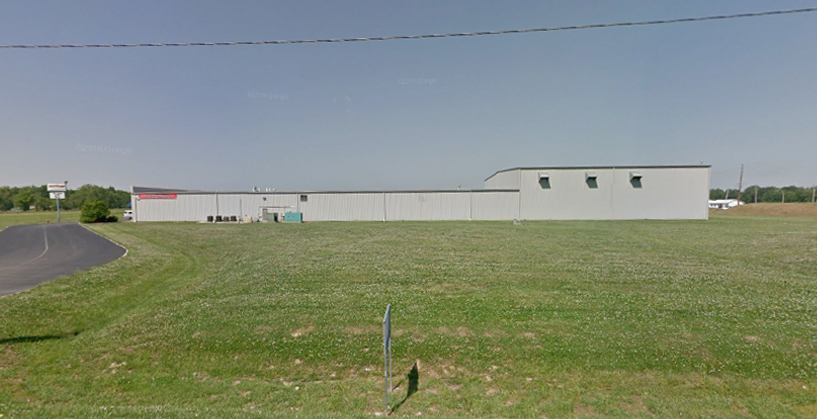 The now-former Dan's Comp store/offices/warehouse in Mount Vernon, Indiana