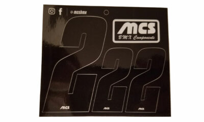 MCS-brand BMX Number Sheets