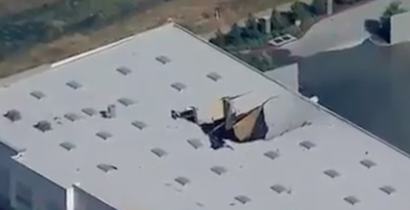 F-16 Fighter Crashes into SIDI Shoes Warehouse